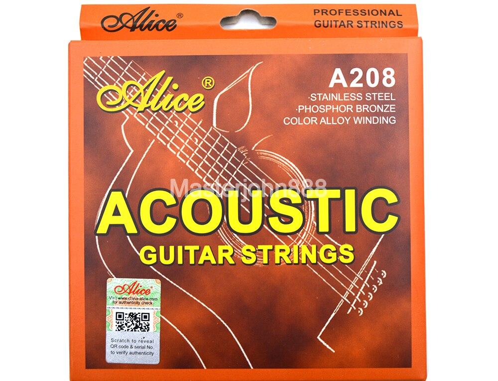 Струны Alice A208-L/SL для акустической гитары, струны из сплава цвета фосфора и бронзы, 1-6 струн, бесплатная доставка
