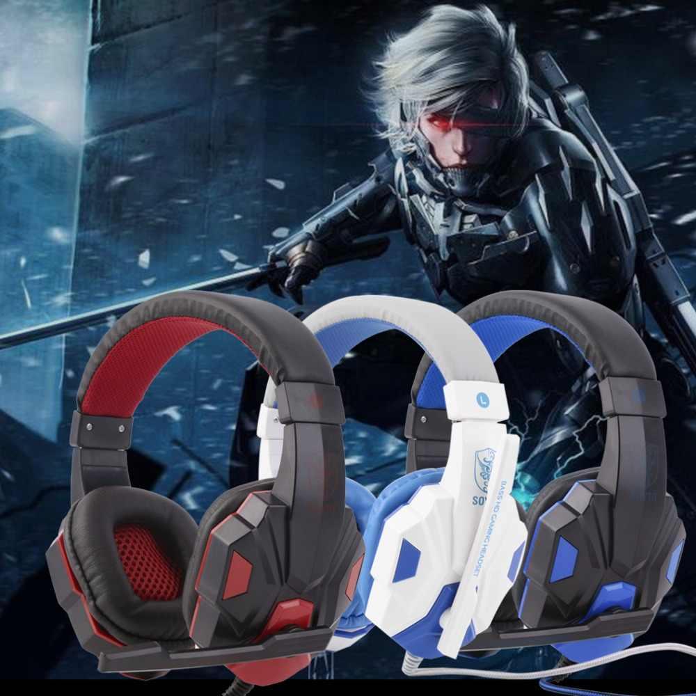 חם מכירות מתכוונן אורך צירי 3.5mm סטריאו סראונד משחקי אוזניות בגימור אוזניות עם מיקרופון עבור מחשב 3 צבע עבור בחירה