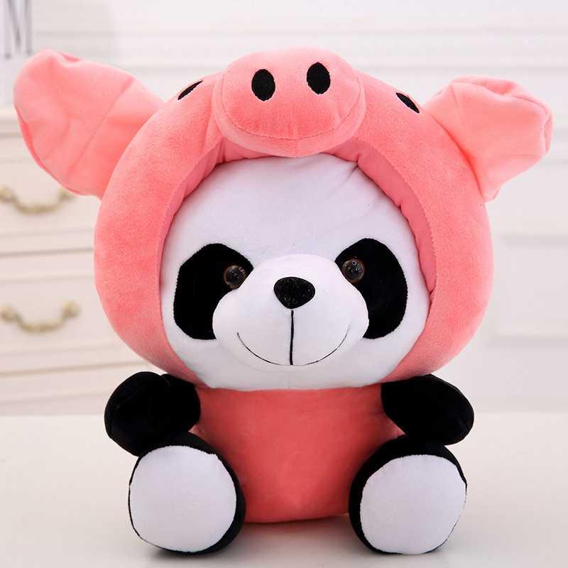 Animais Macio Stuffed Boneca Ponto de pelúcia Panda Dos Desenhos Animados de Pelúcia Brinquedos Do Bebê Para Crianças Novo Casamento Engraçado Querido Casal Bonecas Brinquedos
