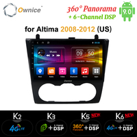 Ownice k3 k5 k6 Android 9.0 Car GPS Radio player for Nissan Teana Altima 2008 2009 2010 2011 2012 4G LTE 360 Panorama DSP SPDIF