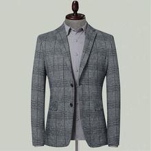 Autumn and winter new knitted elastic mens suit Korean version of the small business leisure man
