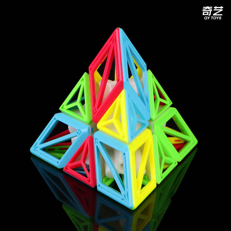 QiYi DNA 3x3x3 الهرم مكعب Stickerless ماجيك سرعة مكعبات لغز ألعاب تعليمية للأطفال