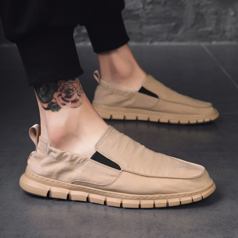 Image 3 - All Season Fashion Loafers Shoes Men Summer Mens Light Loafers Khaki Outdoor Casual Shoes For Men High Quality Shoes Man MaleMens Casual Shoes   -
