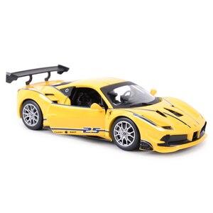 Image 2 - Bburago 1:24 Ferrari 488 ChallengeกีฬารถSTATIC Die Castรถสะสมรถของเล่น