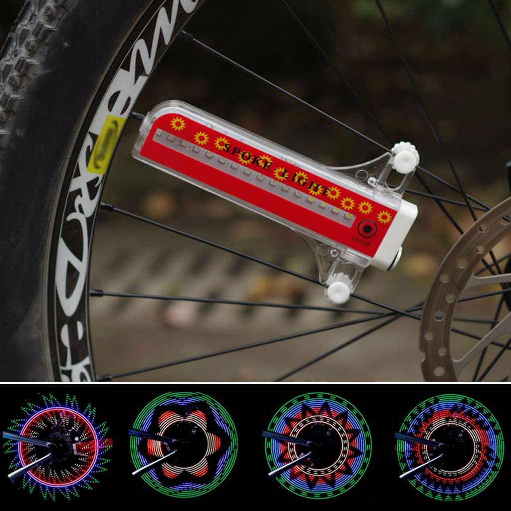 32 LED 32 Patterns Bicycle Cycling Wheels Spoke Light Automatic/Manual Mode