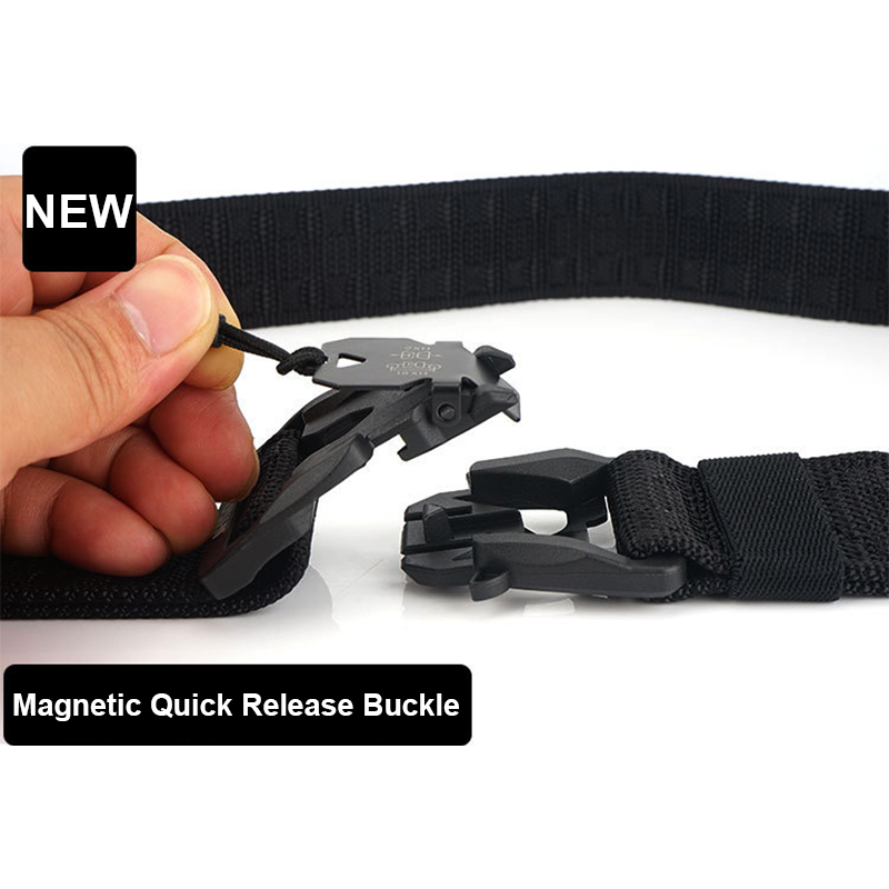 HSSEE Official Genuine Tactical Belt Hard PC Quick Release Magnetic Buckle Military Belt Soft Real Nylon Sports Accessories 2