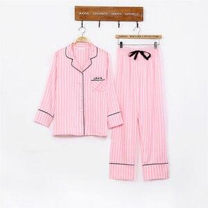 Image 2 - Vrouwen pyjama zijden pyjama voor vrouwen 7 Stuks nachtkleding Winter Sexy pijamas vrouwen Zachte Zoete Leuke Nachtkleding pyjama set