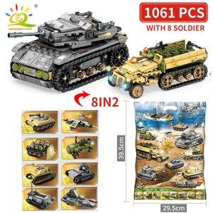 Image 5 - Huiqibao軍事ドイツキングタイガータンクモデル構築ブロック陸軍WW2兵士男武器レンガ子供少年おもちゃギフト