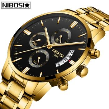 цена 2020 Top Brand NIBOSI Luxury Men's Watch Waterproof Date Clock Male Sports Watches Men Quartz Wrist Watch Relogio Masculino онлайн в 2017 году