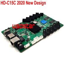 HD C15C 10 * HUB75E Unterstützung 1/32 Lan + USB asynchrone Voll farbe P2 P3 P4 P5 P6 LED screen control karte 384*320 1024*120