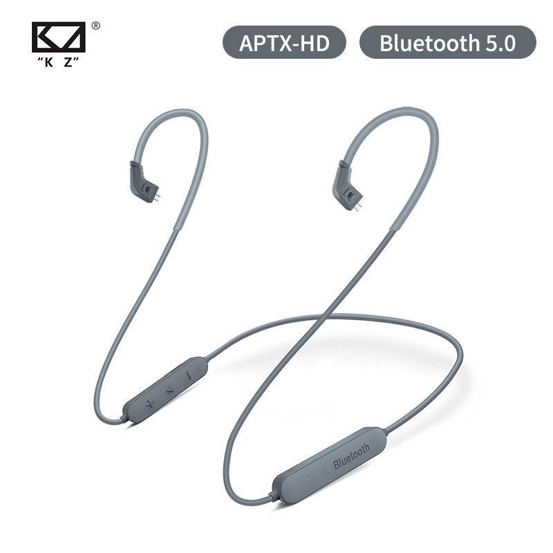 Ak kz cabo sem fio bluetooth 5.0 aptx hd módulo de atualização fio com 2pin para kz zs10 pro/zst/as06/as10/as16/zsn pro zsx c10 trn