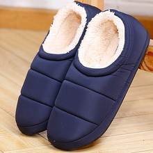 Winter men's slippers short plush soft men's slippers wrapped heel shoes warm cotton shoes home slippers men thick rubber sole