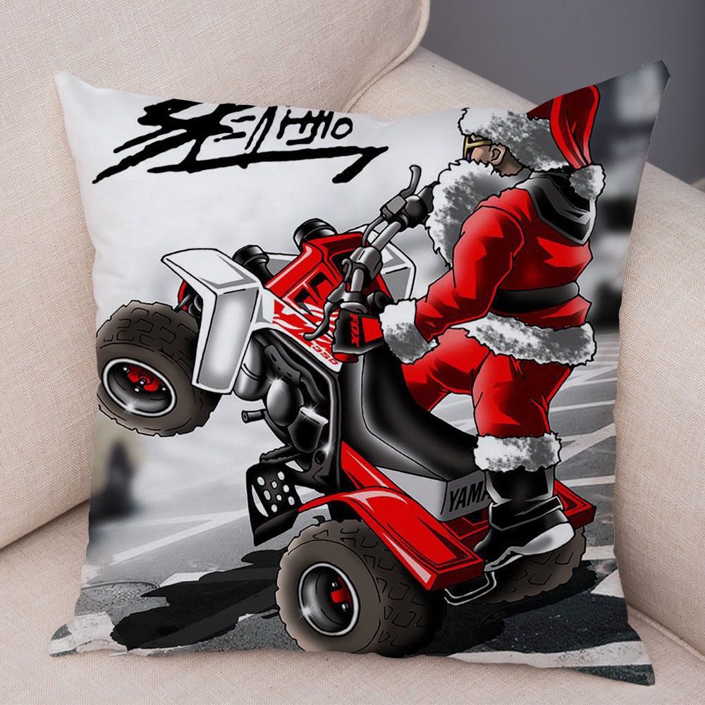 Extreme Sports Cushion Cover Decor Cartoon Motorcycle Pillowcase Soft Plush Colorful Mobile Bike Pillow Case for Sofa Home Car 7