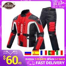 DUHAN, осень зима морозостойкая Мотоциклетная Куртка Мото + протектор мотоцикла брюки для девочек Moto костюм Touring костюмы защитное снаряжение