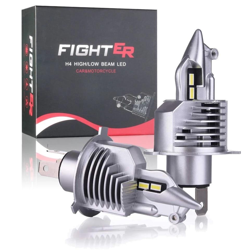 Светодиодные автолампы Eurs Fighter Foco, для фар головного света автомобиля/мотоцикла, 72 Вт, 12/24 В, 6000 K, H4, 8000 лм