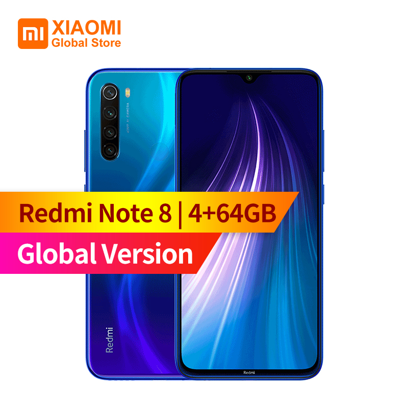 Global Version Xiaomi Redmi Note 8 4GB RAM 64GB ROM Mobile Phone Octa Core Quick Charging 4000mAh Battery 48MP Camera Smartphone(China)