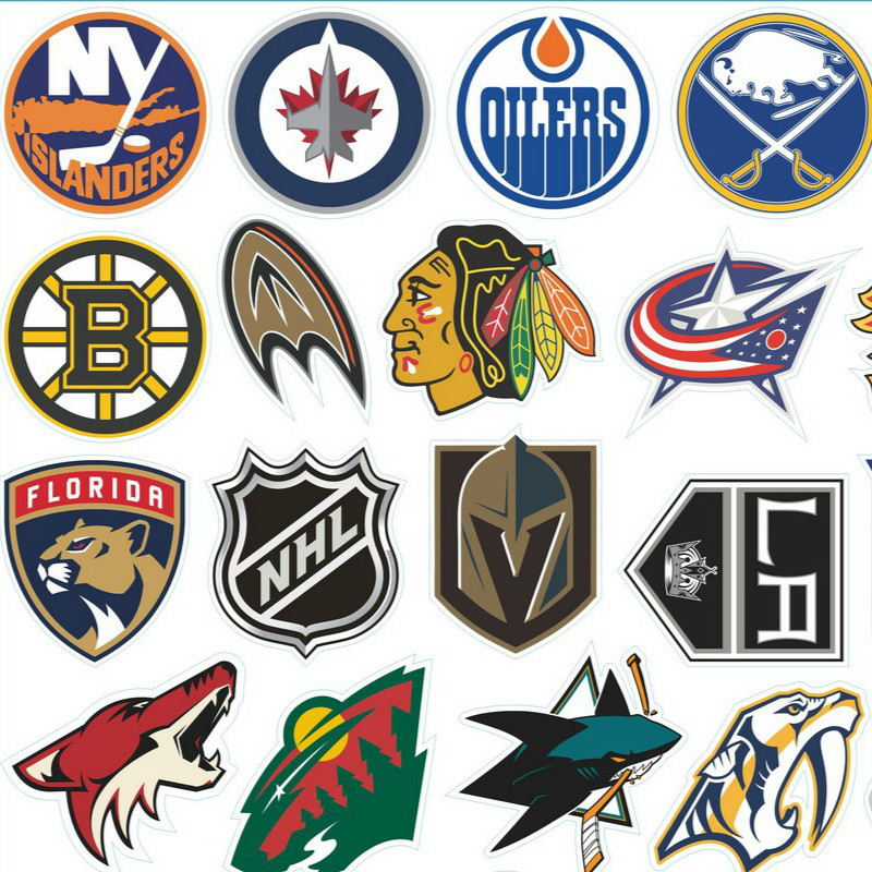 Adesivi Auto Stikkers NHL 31Pcs Teams Set Helmet Adhesive Paper Hockey Adhesive Paper Stickers Craft Supplies
