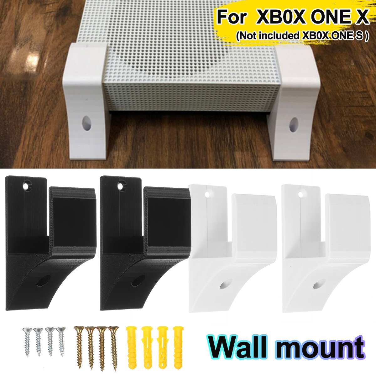 White/Black 3D Printed With Screws Wall Holder For XB0X ONE S Game Pad Dock Gamepad Stand Holder