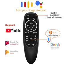 G10S Pro Control de voz ratón del aire con giro de Mini inalámbrico remoto inteligente retroiluminada para Android tv box PC
