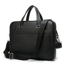 casual briefcase men leather laptop bag men