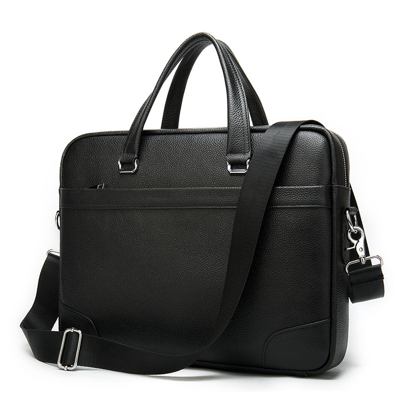 Casual Briefcase Men Leather Laptop Bag Men Leather Genuine Mens Briefcase Bags Laptop Business Briefcases Man Men's Bag    9082