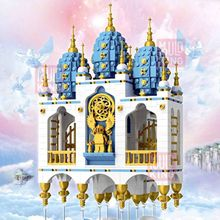 2020MOULDKING LEGOINGLY CITY Street view Floating SKY Castle Fantasy Fortress Model Lepining Building Blocks Bricks Kids Toys(China)