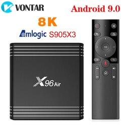 VONTAR X96 aire Amlogic S905X3 mini Android 9,0 TV BOX 4GB 64GB 32GB wifi 4K 8K 24fps Netflix X96Air 2GB 16GB Set Top Box