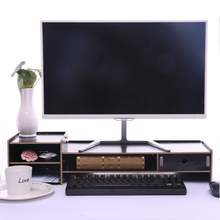 Multi-function Desktop Monitor Stand Neck Protection Computer Screen Riser Wood Shelf Plinth Strong Laptop Stand Desk Holder