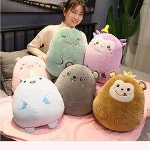 Dinosaur Unicorn Mouse Monkey Warm Hand Pillow Blanket Plush Toy Stuffed Animals Plushies Toys Kawaii Soft Plushie AP