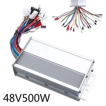 DC 48V 500W Electric Bicycle Brushless DC Motor Speed Controller For Electric Bike Scooter E-bike Accessories 150x80x40mm 12v 24v 36v 48v 500 800w dc electric bike motor brushed controller box for electric bicycle scooter e bike accessory