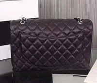2019 ladies luxury handbag high quality handbag leather caviar famous designer gold chain silver chain female diagonal package