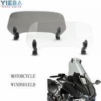 Motorcycle accessories Risen high Adjustable Windscreen Windshield Extend Air Deflector moto parts For yamaha NIKEN 2018 2019