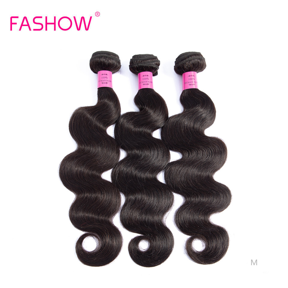 Onda do corpo indiano feixes de cabelo humano tecer 1/3/4 peças cor natural 28 30 32 Polegada fashow remy cabelo humano para preto