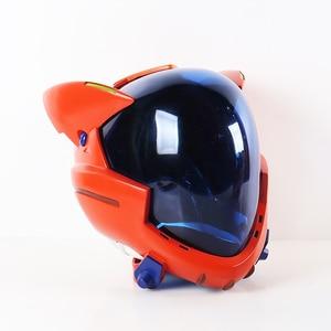 Image 2 - ¡En Stock! Casco acrílico EVA para Cosplay, casco Ayanami Rei Mari Makinami, máscara ilustre