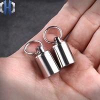 Neue Titan Legierung Wasserdichte Bin Mini Wasserdichte Tank Tragbare Wasserdichte Bin Kleine Pille Flasche Tragbare Notfall Pille Flasche