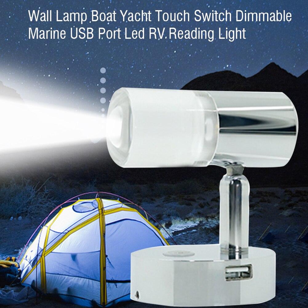 12V LED Reading Light Dimming Lamp Bedside Lamp for Marine Boat RV Motorhome