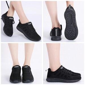 Image 4 - STQ 2020 ฤดูใบไม้ผลิรองเท้าผ้าใบผู้หญิงรองเท้าแบนหญิง Casual LACE up Breathable ตาข่ายรองเท้าผ้าใบผู้หญิงรองเท้าสตรีเดินรองเท้า a08