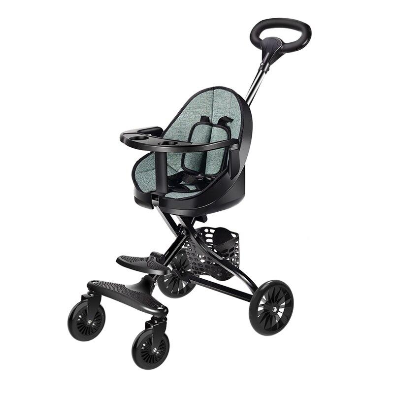 High Quality Baby stroller V1 children's Stroller Light Folding High Strability Stroller 4-wheel 2 Ways Push Travel Use Cart