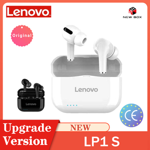 Lenovo New LP1S TWS Wireless Earphone Bluetooth Upgraded Version 5.0 Dual Stereo Touch Control 300mAH سماعة Fone de Ouvido