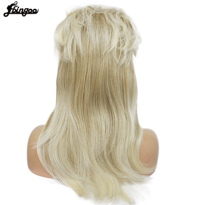 Image 5 - Ebingoo 70s 80s Halloween Costume Retro Rocking Punk Metal Disco Mullet Synthetic Cosplay Wig Women Long Straight Blonde Wig
