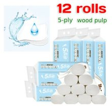 Toilet Paper Toilet Paper Soft And Thick Three Layers Water Absorption Flexible And Not Easy To Break 12 Pcs/Bag