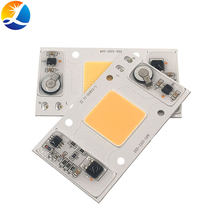 95% RA 50W COB lámpara LED AC 220V espectro completo sin conductor 95 CRI LED bombilla LED planta crecer reflectores de luz inteligente IC(China)