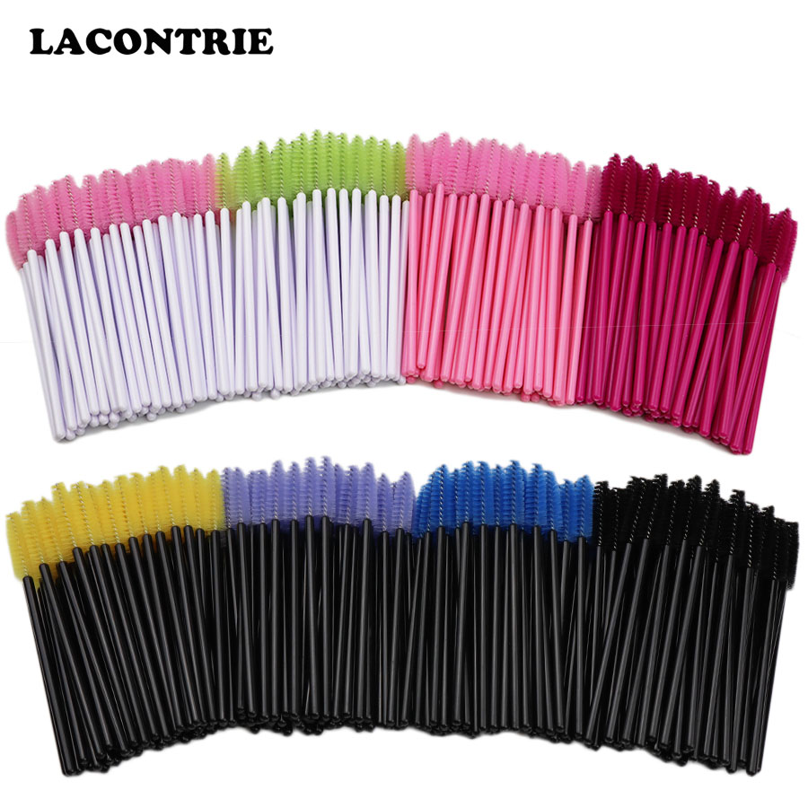 50/100Pcs Eyelash Extension Cosmetic Brush Disposable Mascara Wand Applicator Individual Eyelash Separating Micro Eyelash Brush
