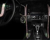עבור הונדה crv crv קריסטל רכב מדבקות מדבקות היגוי פנים מרכז הגלגל בלינג אביזרים & יהלומים DIY להגדיר עבור j הסכם CRV הונדה סיוויק (4)