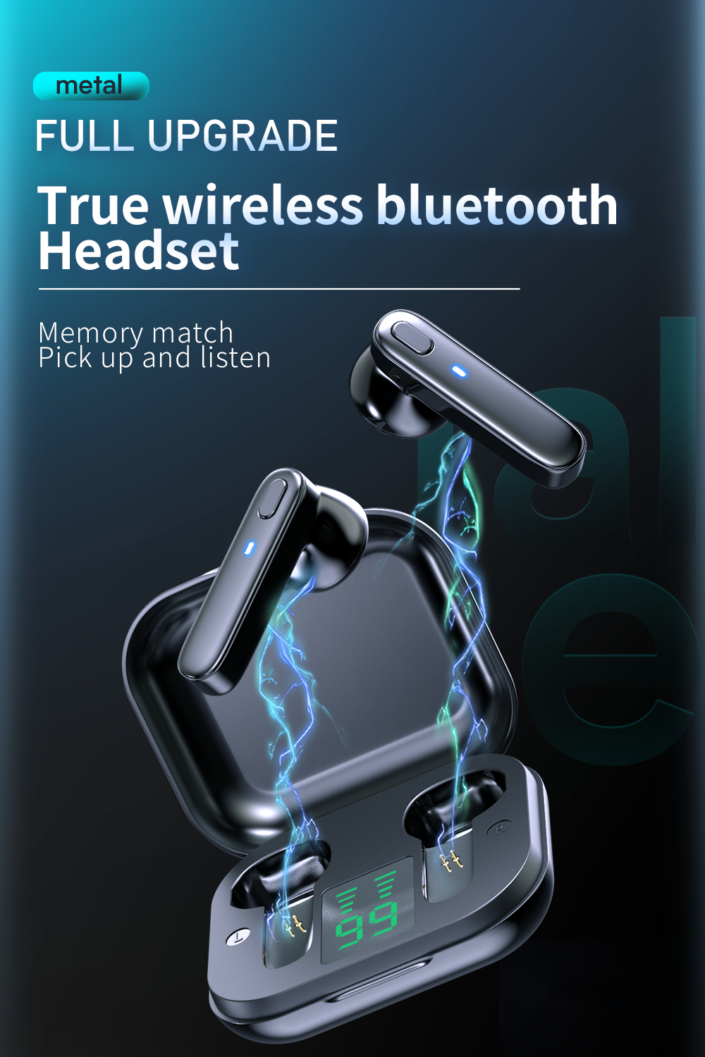 H3e4481b31a2c433abd4a0d8967711b6ce R20 TWS Earphone Bluetooth Wireless Headset Waterproof Deep Bass Earbuds True Wireless Stereo Headphone With Mic Sport Earphone