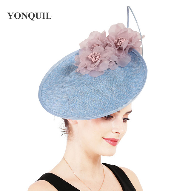 Charming Big Hair Fascinators For Kenducky Nice Hats Elegant Women Fedora Caps Fancy Nice Flower Ladies Headwear Hair Pins