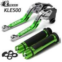 Pliant extensible extensible réglable CNC aluminium freins leviers d'embrayage poignée poignées ensemble pour Kawasaki KLE500 KLE 500 1991-2007 1992