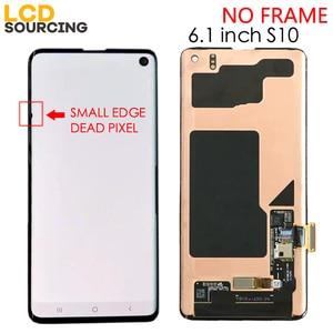Image 2 - Amoled Kleine Tote Pixel Für SAMSUNG Galaxy S10 LCD G973F G973FD Display S10 + Plus G975F G975FD Touchscreen Digitizer montage
