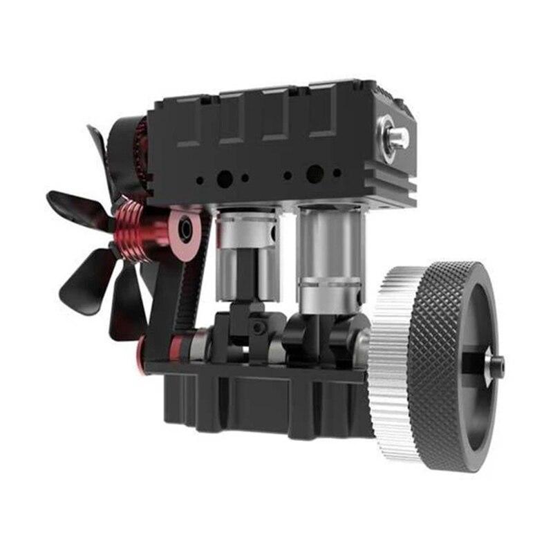 FS-L200 moteur bicylindre modèle moteur RC modèle moteur rouge modèle multi-modulaire Design high-tech cadeau d'anniversaire - 3