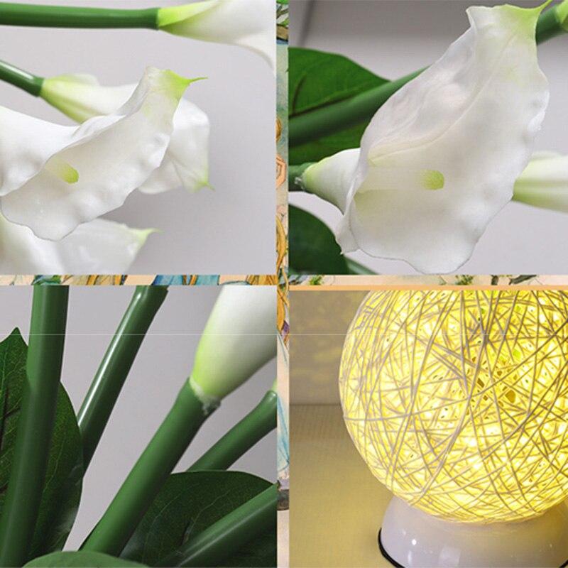 Настольная лампа, имитация лилии, маленькие фонарики, романтическая лампа, Настольный светильник для дома, спальни, 3D ночник, светильник JDH99